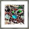 Sea Glass Art Prints Beach Seaglass Framed Print by Baslee Troutman