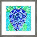 Sea Turtle Swim Framed Print by Nick Gustafson
