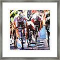 Short Sharp Sprint Framed Print by Shirley  Peters