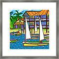 Small Boat Regatta - Cedar Key Framed Print by Mike Segal