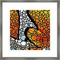 Stone Rock'd Clown Fish By Sharon Cummings Framed Print by Sharon Cummings