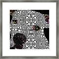 Stone Rock'd Dog By Sharon Cummings Framed Print by Sharon Cummings