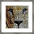 Stone Rock'd Lion 2 - Sharon Cummings Framed Print by Sharon Cummings