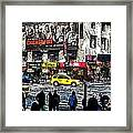Streets Of Manhattan 20 Framed Print by Mario Perez