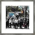 Streets Of New York City 17 Framed Print by Mario Perez