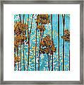 Stunning Abstract Landscape Elegant Trees Floating Dreams II By Megan Duncanson Framed Print by Megan Duncanson