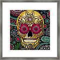 Sugar Skull Paisley Garden - Copyrighted Framed Print by Christopher Beikmann