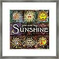 Sunshine Framed Print by Evie Cook