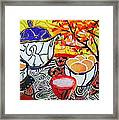 Tea And Eggs  Framed Print by Diane Fine