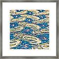Textile Pattern Framed Print by Tom Gowanlock
