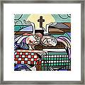 Thank You Jesus When Two Or More Are Gathered Framed Print by Anthony Falbo