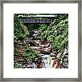The Flume Framed Print by Heather Applegate