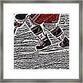 The Hockey Player Framed Print by Karol Livote