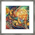 The Key Of Jerusalem Framed Print by Elena Kotliarker