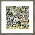 The Ravine Of The Peyroulets Framed Print by Vincent van Gogh