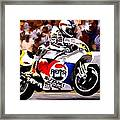 The Unleashing   Kevin Schwantz Framed Print by Iconic Images Art Gallery David Pucciarelli