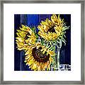 Three Sunny Flowers Framed Print by Irina Sztukowski