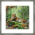 Tiger In The Jungle Framed Print by Adrian Chesterman
