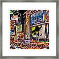 Times Square Framed Print by Randy Aveille