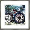 Tractor Hdr Framed Print by Graham Foulkes