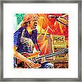 Trey Anastasio Squared Framed Print by Joshua Morton