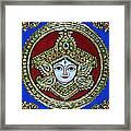 trinetra Durgaji Framed Print by Vimala Jajoo
