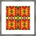 Tropical Leaf Pattern 2 Framed Print by Amy Vangsgard