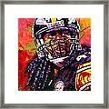 Troy Polamalu Framed Print by Maria Arango