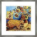 Van Gogh's Bad Cat Framed Print by Eve Riser Roberts