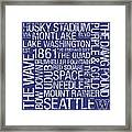 Washington College Colors Subway Art Framed Print by Replay Photos