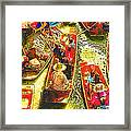 Water Market Framed Print by Mo T