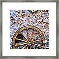 Wheel And Sun In Taromina Sicily Framed Print by David Smith
