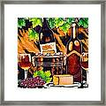Wine Framed Print by Angelika Bentin