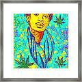 Wiz Khalifa Drawing In Line Framed Print by Pierre Louis