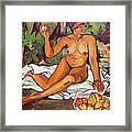 Young Half Caste Woman Framed Print by Marie Clementine Valadon