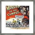 Monster On The Campus, Arthur Franz Framed Print by Everett
