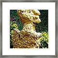 A Profile Of A Man Framed Print by Anand Swaroop Manchiraju