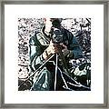 An Army Ranger Sets Up An Anpaq-1 Laser Framed Print by Stocktrek Images
