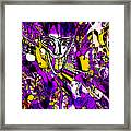Bad Monday - Ironic Laugh -  Purple-yellow  Framed Print by JL Eichers