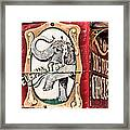 Big Top Elephants Framed Print by Kristin Elmquist