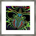 Black Widow Framed Print by Wingsdomain Art and Photography