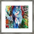 Blue Madonna Framed Print by Mindy Newman