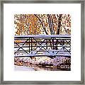 Bridge Over Icy Waters Framed Print by James BO  Insogna
