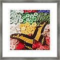 Butterfly And Buttons Framed Print by Garry Gay