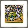 Cabrera Grand Slam Framed Print by Nicholas  Grunas