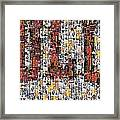 Chicago Bulls Michael Jordan Cards Mosaic Framed Print by Paul Van Scott