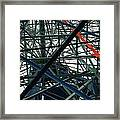 Close-up Of Ferris Wheel Mechanism Framed Print by Todd Gipstein