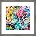 Color Splash Framed Print by Katina Cote