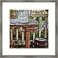 Country Porch Framed Print by Kathy Jennings