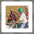 Eye On The Athlete  Framed Print by Betsy Knapp